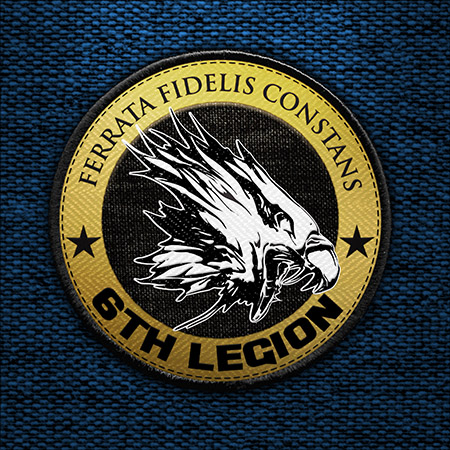 6TH legion embroided patch 2b small